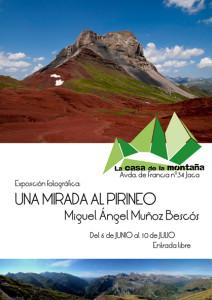 Cartel de la exposición Una Mirada al Pirineo - Miguel Ángel Muñoz Bescós