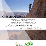 Charla – Proyección de Christian Ravier. Martes 16 de Diciembre a las 20.00h