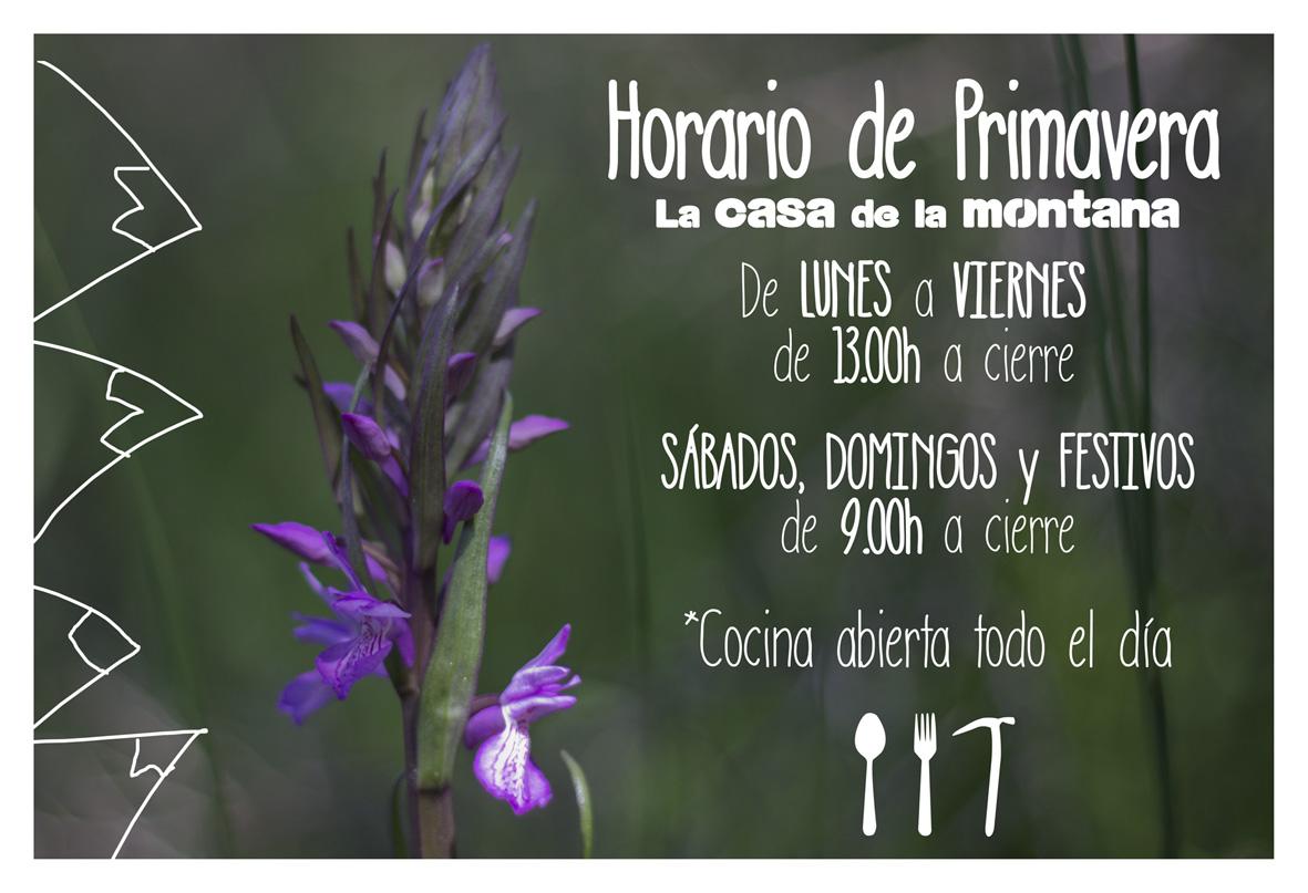 horario de primavera La casa de la montaña